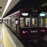 和レー屋 南船場ゴヤクラ - 【おまけ画像】最寄駅の地下鉄堺筋線長堀橋駅には阪急電車が乗り入れている。