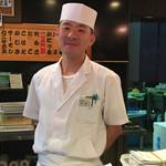 寿司源 藤沢大庭店 - おもてなし精神全開で とても良くしてくれた板さんです‼️本当にありがとうございましたm(_ _)m       (奈良さん)