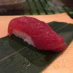 寿司源 藤沢大庭店 - 良い赤身が入ったので!と 出してくれた鮪の漬けヽ(。>▽<。)ノ135円