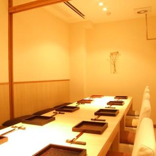 完全個室、接待、顔合わせ、結納、宴席に完全個室のみ。