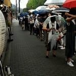 山元麺蔵 - 今日も、食べ終わったら・・       こんなに並んでますよ       (*_*;