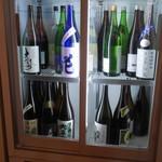 旬菜 すがや - ドリンク写真:日本酒の冷蔵庫