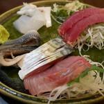 旬菜 すがや - 刺し身盛合せ2人前660円。
