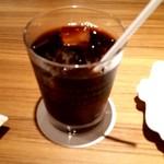 にじいろカフェ - オーガニックアイスコーヒー 450円