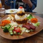 浜辺のTipi Cafe - タコライス(1300円)