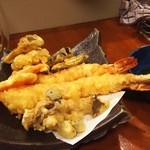 ゑびす門 - 海老天 舞茸の天ぷら