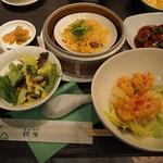 広東料理 民生 ヒルトンプラザウエスト店 - スーパーランチ(ご飯、お粥、スープおかわり自由)