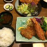すえ広 - 盛り合わせ定食1400円
