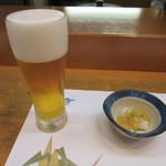 鮨志乃介 - 生ビール