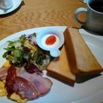 むさしの森珈琲 - モーニングセットC+コーヒー