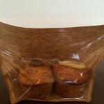 アルパカ珈琲 - 森田さんのトマトとクリームチーズのマフィン・レモンと酒かすのマフィン