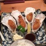 牡蠣ツ端 - カキフライ定食950円