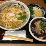 福乃屋 - まぐろ漬け丼&うどんセット900円