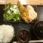 水炊き・焼き鳥 とりいちず - 鶏の唐揚げと南蛮の合盛り定食