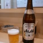 とみせん - 瓶ビール(アサヒ)