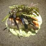 52491967 - 八丈島産真鯛 トリュフ・ブロッコリーソース