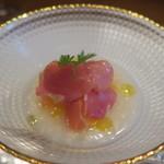モンプチコションローズ - 28年6月 自家製甘酒の冷製スープ メロン、生ハム