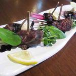 Kusshinakopan - 馬肉の串パッチョ