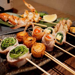 【肉巻き】肉巻き串、海鮮串を始め豊富な串メニュー