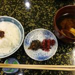 玉家 - 2016/6 ご飯、味噌汁、香の物