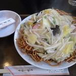 東華園 - カタ焼きそば(でかい)