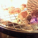 5250046 - ホルモン定食。火が強い。