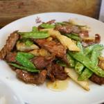 盛 - 料理写真:特別定食・・牛肉のオイスター炒め