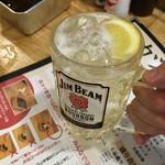 串カツ田中 - 1杯目の無料ハイボール【串カツ田中新宿三丁目店】