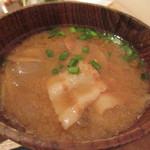 24/7 cafe apartment  - デリごはんのお味噌汁は具のたっぷり入った豚汁です。