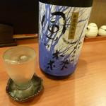 銘酒居酒屋 晴れる屋 - 日本酒(風の森純米吟醸しぼり華)
