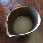 薬庵 - そば湯