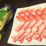 うまかぁ~黒豚と肴料理 まん - しゃぶしゃぶ1