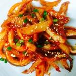 元山食堂 - 韓国風イカ炒め