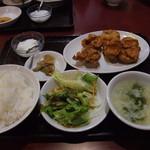 王さん私家菜 - 【ランチ】鶏の唐揚げ定食