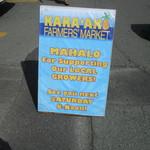 Kakaako Farmers Market - ファーマーズマーケットの案内看板