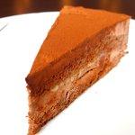 オーブ - <'16/06/07撮影>ケーキセット 700円 のチョコレートケーキ