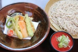 蕎麦ダイニング赤坂 - 野菜天せいろ