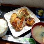 おいしんぼ - 料理写真:照り焼きチキンとスタミナ揚げ出し豆腐