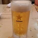 Koufukuen - 香福園2杯めのビール、1杯目は乾杯で撮り忘れました