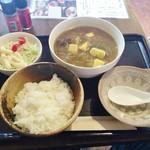 まことや本舗 - カレー豆富定食650円