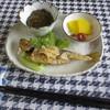 ダイニングカフェ DONA - 料理写真:カキフライセット 1300円(鯵の南蛮漬けと地元産のもずく酢、香の物)