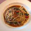 エルベッタ - 料理写真:「A pranzo」(1,200円)。パスタは「海老とマッシュルームのトマトソーススパゲティ」。