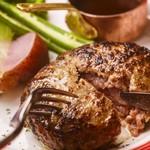 岩手県産牛と白金豚のハンバーグ 自家製赤ワインソース