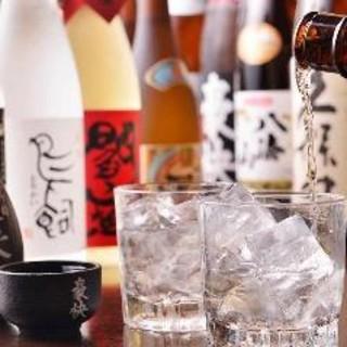 全国から厳選!個性豊かな焼酎や、香り豊かな日本酒をご用意!