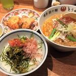 博多担々麺 とり田 - 博多満喫セット(1450円)