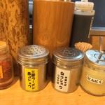 麺場 七人の侍 - 卓上