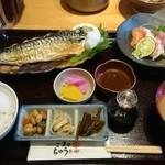 52540056 - お魚ランチ 900円税込 鯖の塩焼きとお刺身