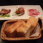 オステリア ディ クオーレ - 前菜+パン