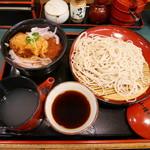 小諸そば - おろしヒレカツ丼セット¥570