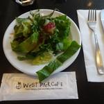 ウエストパークカフェ - ランチサラダ